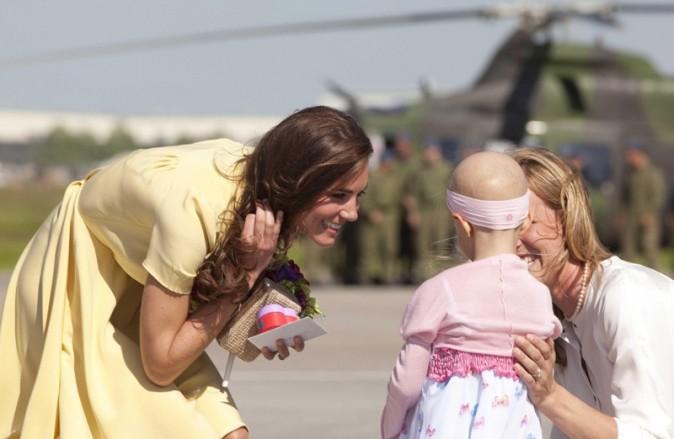 Un touchant comité d'accueil pour Kate et Wiiliam à Calgary ...