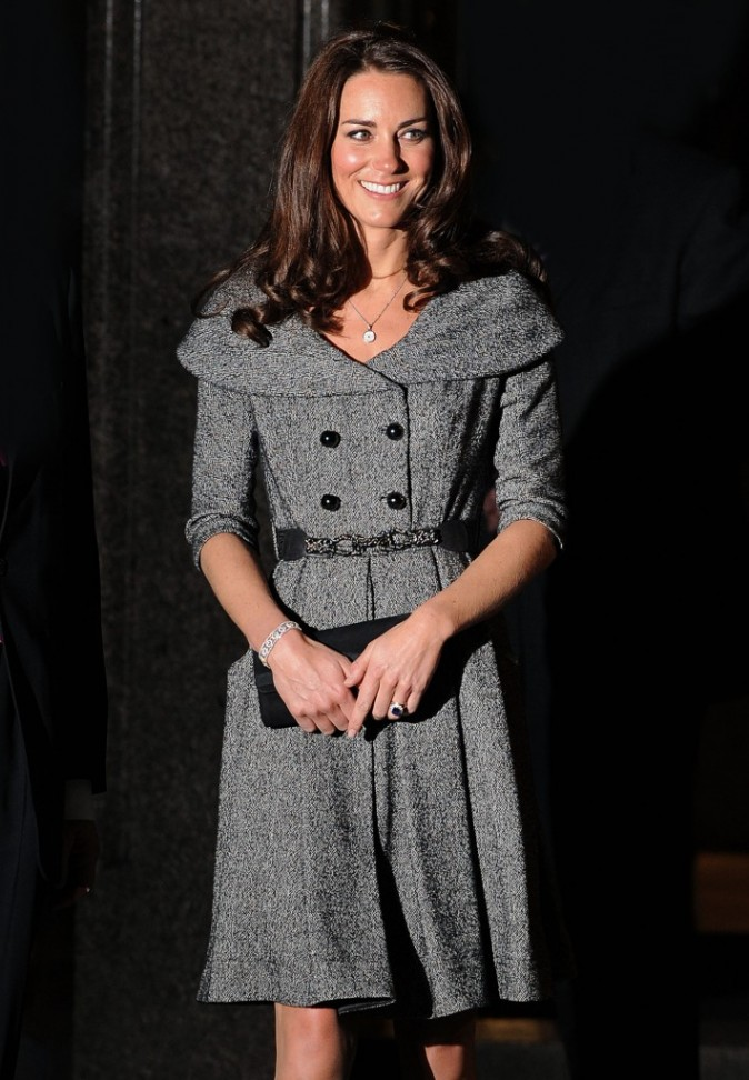 Kate Middleton à l'occasion d'un vernissage à Londres, le 8 février 2012.