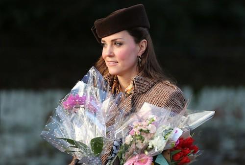 Kate Middleton à Sandringham, le 25 décembre 2014