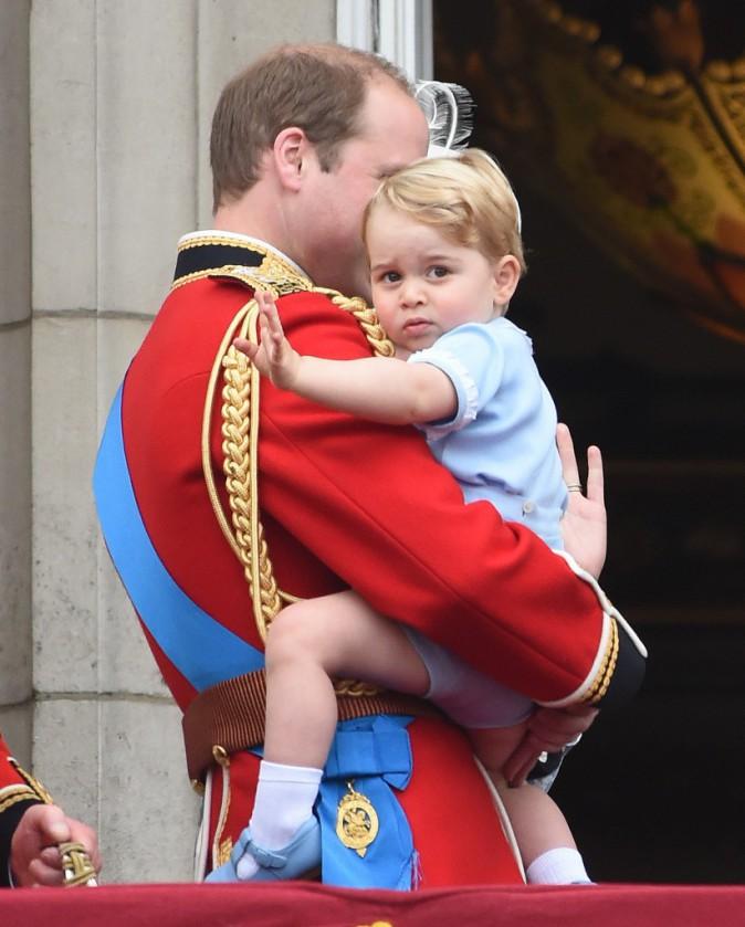 Le prince George et le prince William le 13 juin 2015