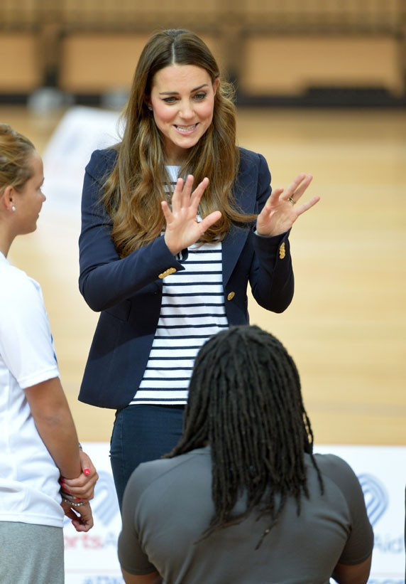 Kate Middleton au Queen Elizabeth Olympic Park de Londres le 18 octobre 2013