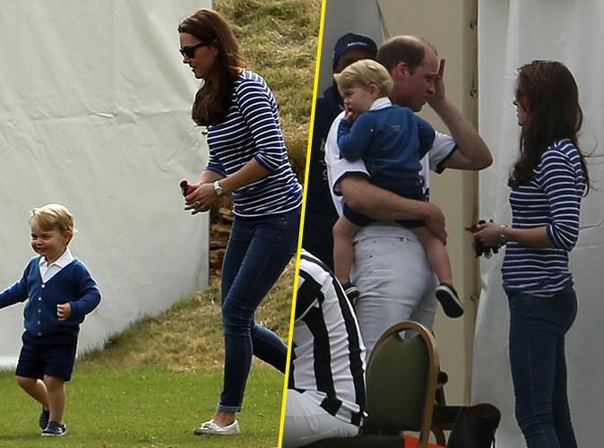 Photos : Kate Middleton : souriante et complice avec George pour encourager le prince William !
