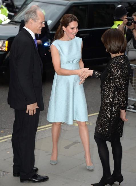 Kate Middleton à la National Portrait Gallery à Londres, le 24 avril 2013.