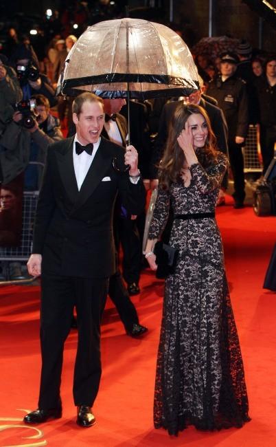 Kate Middleton et le prince William lors de la première du film Cheval de Guerre à Londres, le 8 janvier 2011.