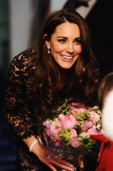 Kate Middleton lors de la première du film Cheval de Guerre à Londres, le 8 janvier 2011.