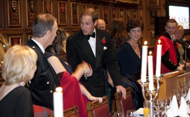 Kate Middleton et le prince William lors d'une réception à Londres, le 8 novembre 2012.