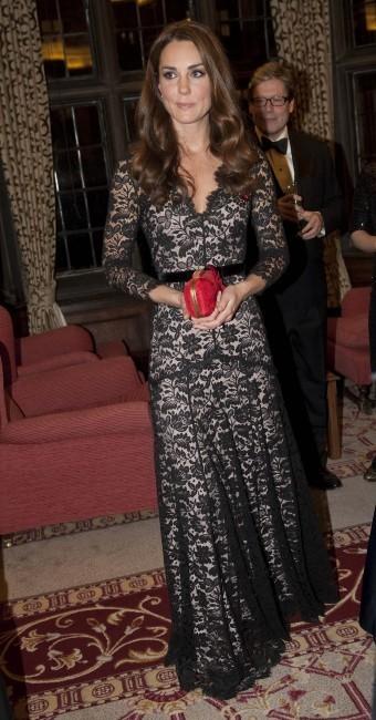 Kate Middleton lors d'une réception à Londres, le 8 novembre 2012.