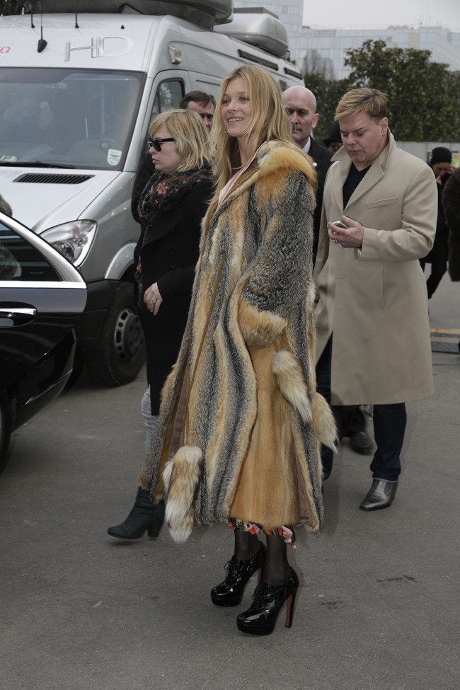 Kate Moss à Paris le 22 janvier 2015