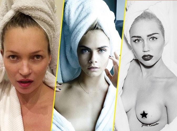 Photos : Kate Moss, Cara Delevingne, Miley Cyrus : prises sur le vif à la sortie du bain !