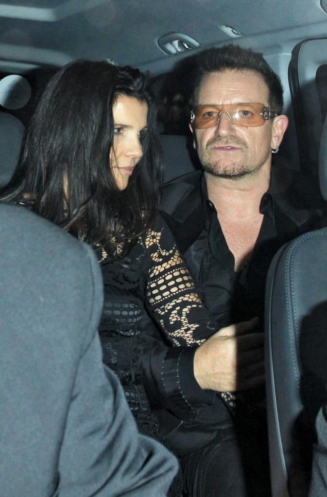 Bono et son épouse lors de la soirée d'anniversaire de Stella McCartney à Londres, le 13 septembre 2011.