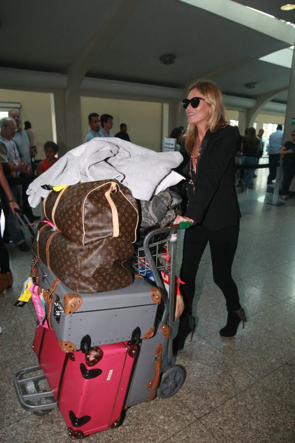 Kate Moss à son arrivée à Sao Paulo le 4 avril 2014