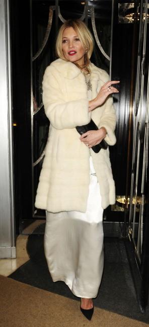 Kate Moss lors de la soirée d'anniversaire des 60 ans du magazine Playboy à Londres, le 2 décembre 2013.