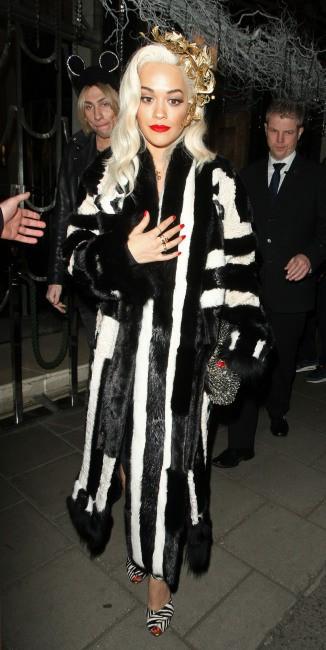 Rita Ora lors de la soirée d'anniversaire des 60 ans du magazine Playboy à Londres, le 2 décembre 2013.