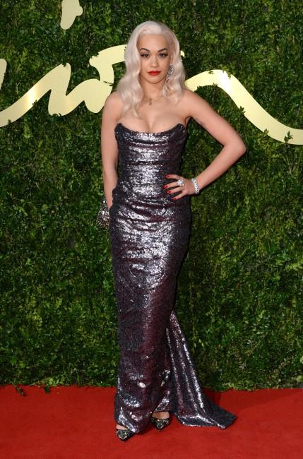 Rita Ora lors de la soirée The British Fashion Awards à Londres, le 2 décembre 2013.
