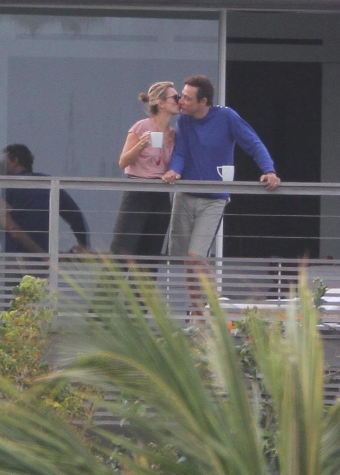 Kate Moss et Jamie Hince en vacances à St Barth, le 17 décembre 2012.