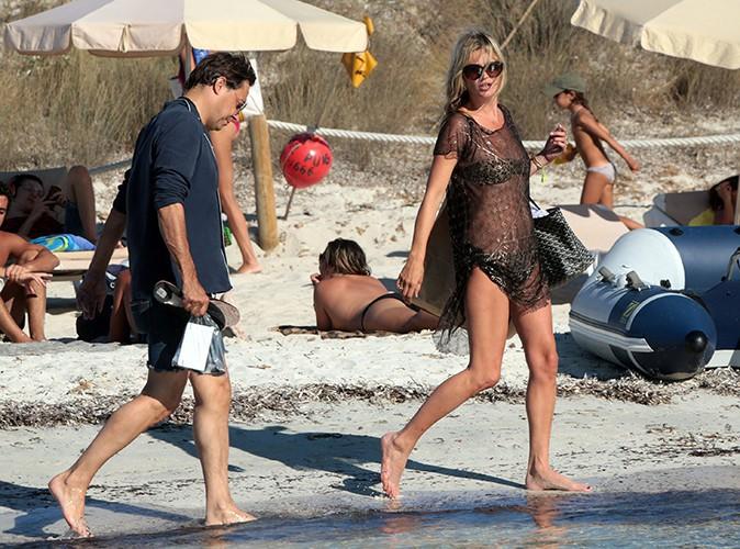 Kate Moss et sa famille à Formentera le 11 août 2013