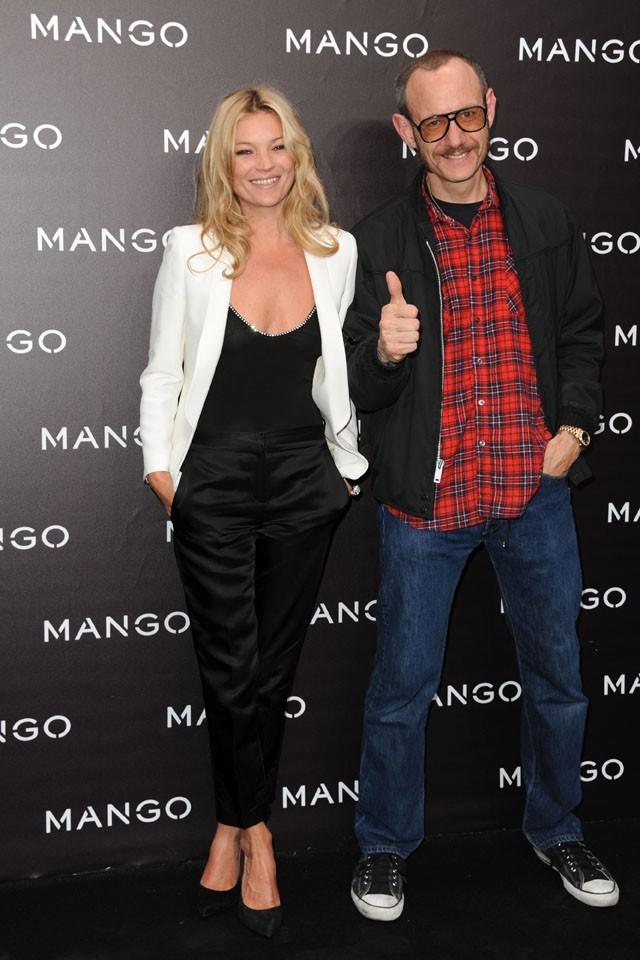 Kate Moss et Terry Richardson lors de la soirée Mango à Paris, le 18 mai 2011.