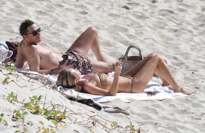 Kate Moss et Jamie Hince le 18 décembre 2012 à Saint Barth