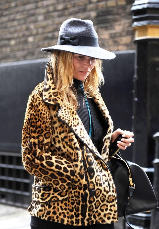 Kate Moss à Londres le 8 janvier 2013