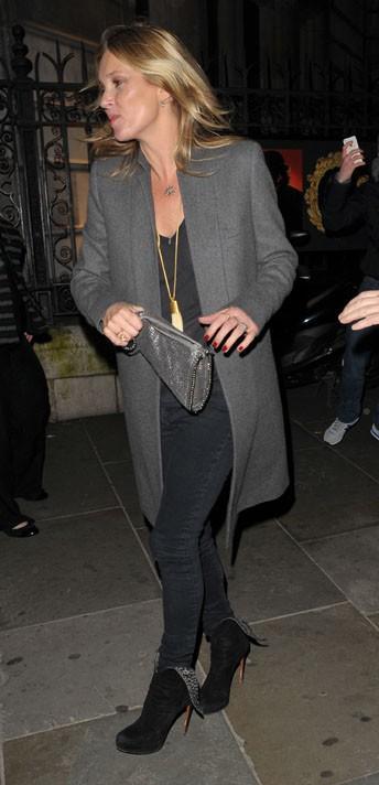 Kate Moss à Londres le 4 février 2014