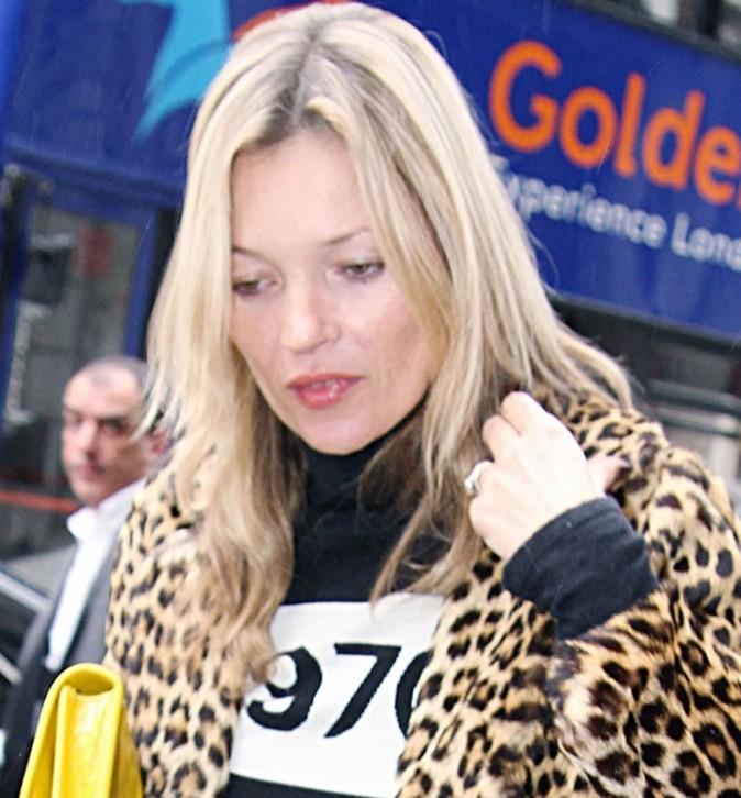 Kate Moss hier dans les rues de Londres