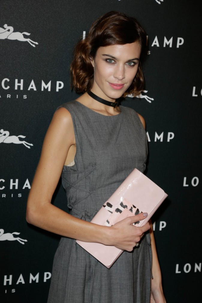 Alexa Chung à Paris le 4 décembre 2014