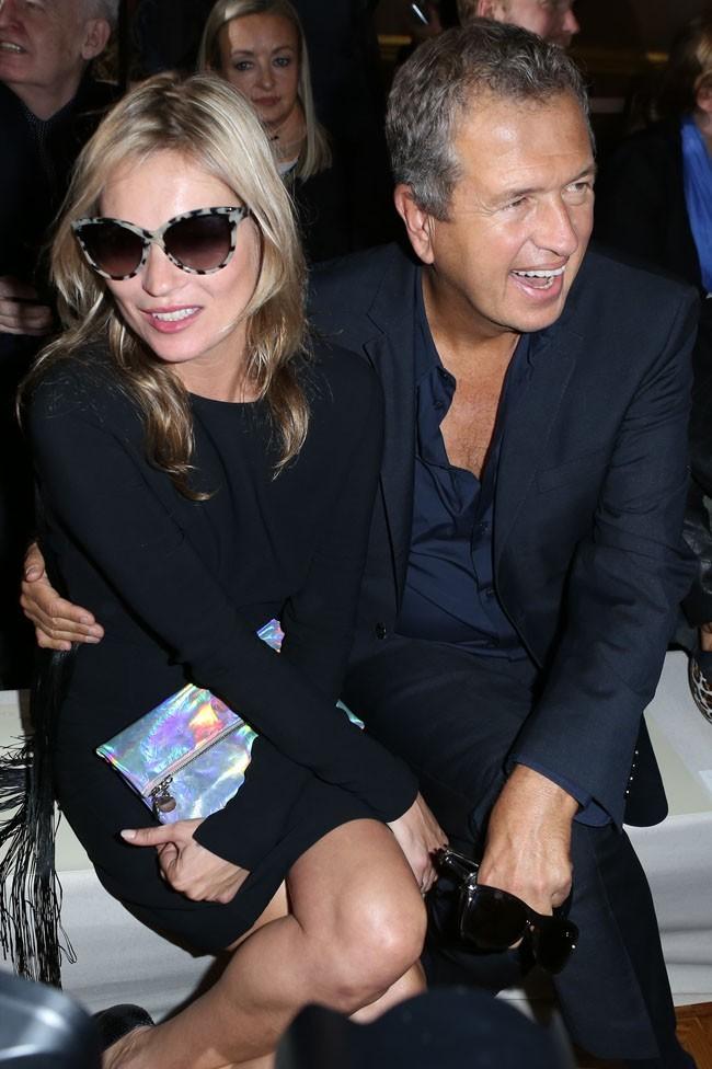 Kate Moss et Mario Testiono le 1er octobre 2012 à Paris