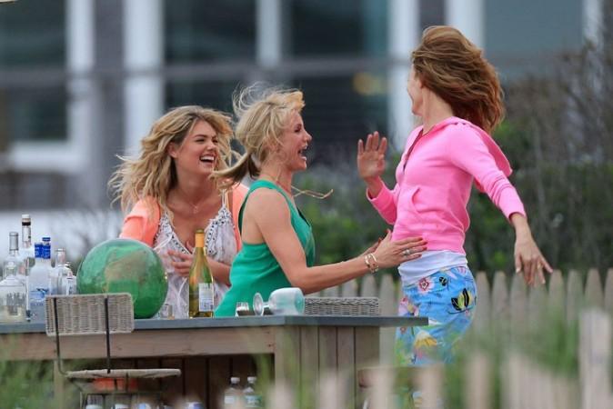 Kate Upton sur le tournage de The Other Woman à Westhampton le 6 juin 2013