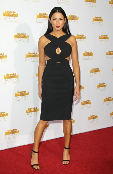Jessica Gomes lors des 50 ans du magazine Sports Illustrated Swimsuit à Los Angeles, le 14 janvier 2014.