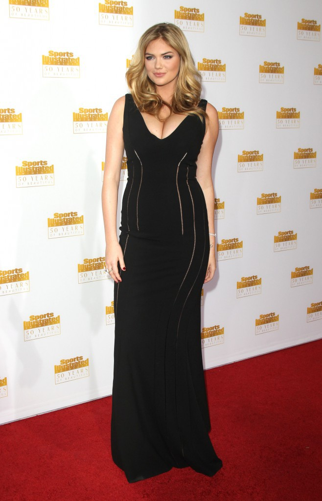 Kate Upton lors des 50 ans du magazine Sports Illustrated Swimsuit à Los Angeles, le 14 janvier 2014.
