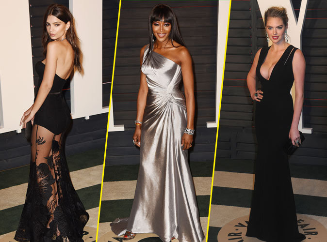 Photos : Emily Ratajkowski, Naomi Campbell, Kate Upton, classes mannequins à la soirée Vanity Fair !