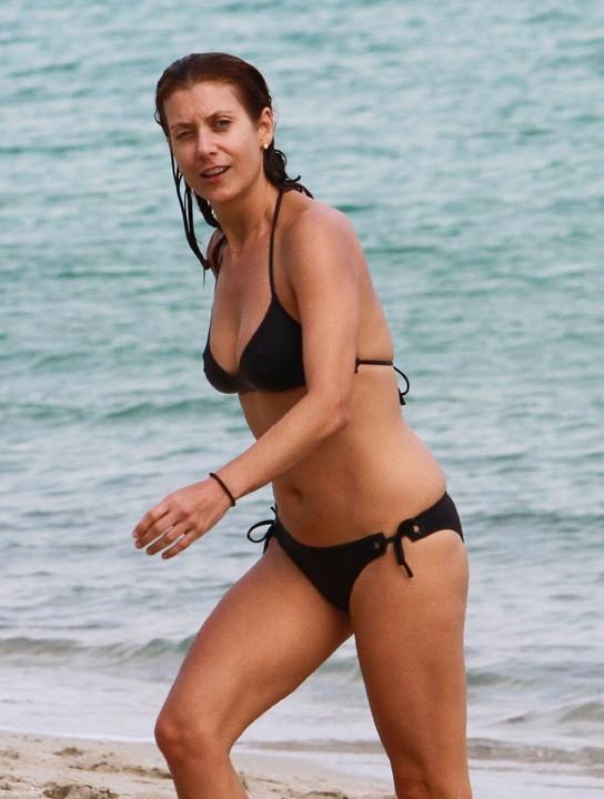 Kate Walsh avec son boyfriend à Miami le 13 décembre 2012