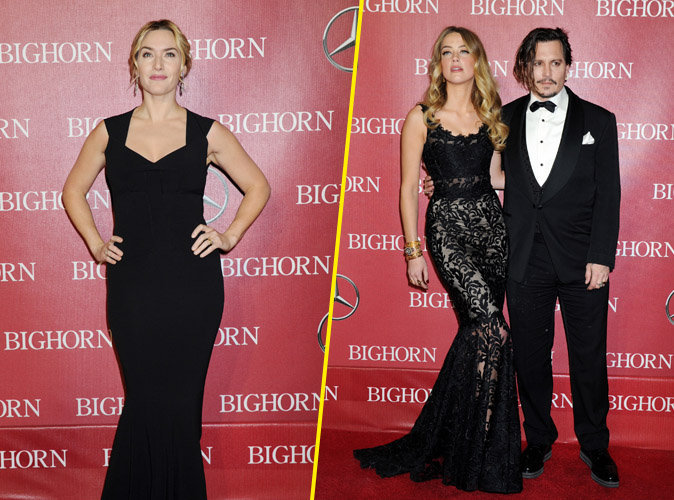 Kate Winslet, Amber Heard et Johnny Depp : trio de choc sur red carpet !