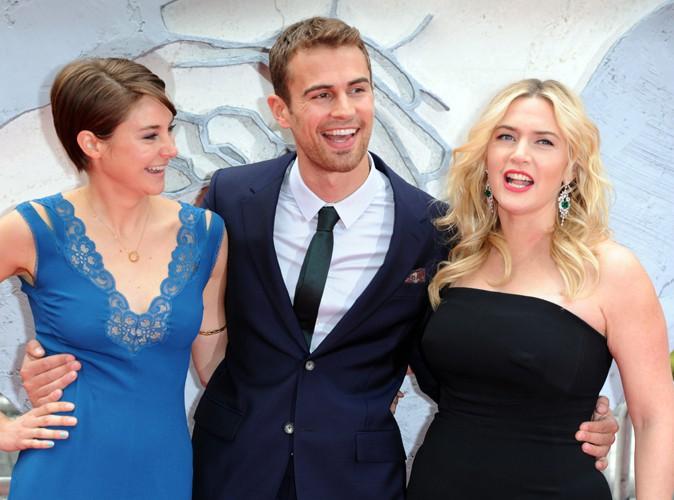 Shailene Woodley, Theo James et Kate Winslet à Londres le 30 mars 2014