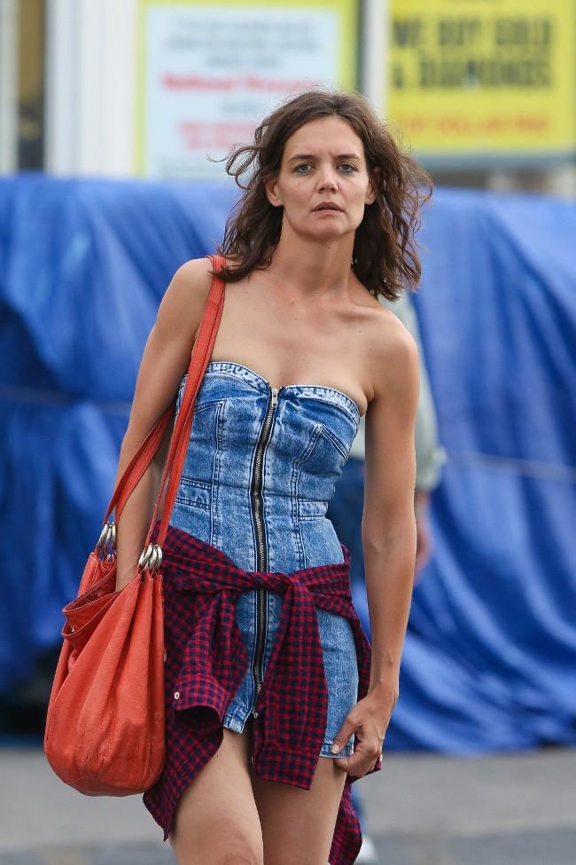Katie Holmes à New-York le 11 août 2015