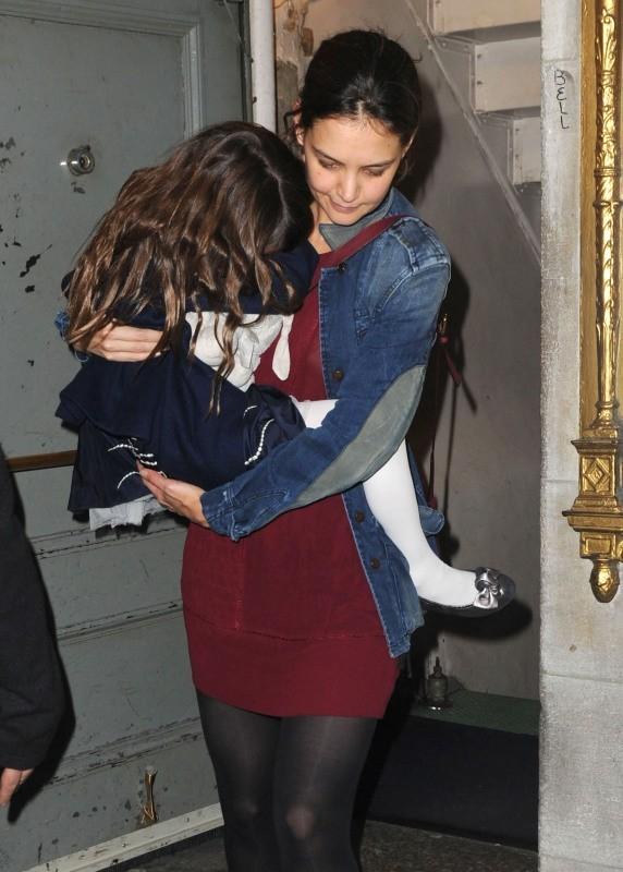 Katie Holmes et Suri Cruise le 10 novembre 2012 à New York