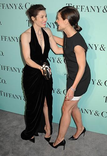 Jessica Biel et Katie Holmes à New York le 10 avril 2014