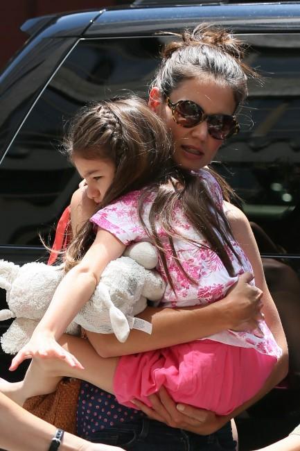 Katie Holmes et Suri Cruise à New York, le 5 juillet 2012.