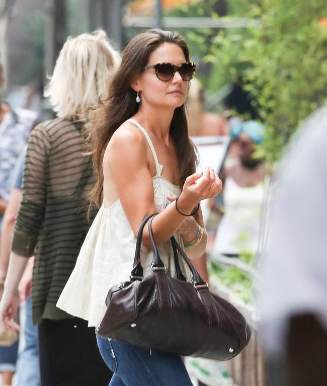 Katie Holmes à New-York le 9 juillet 2013