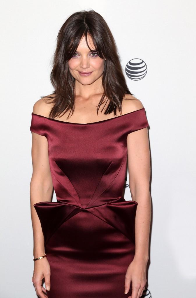 """Katie Holmes lors de la première du film """"Miss Meadows"""" à New York, le 21 avril 2014."""