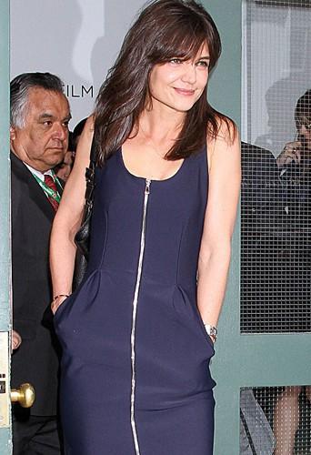 Katie Holmes à New York le 17 avril 2014