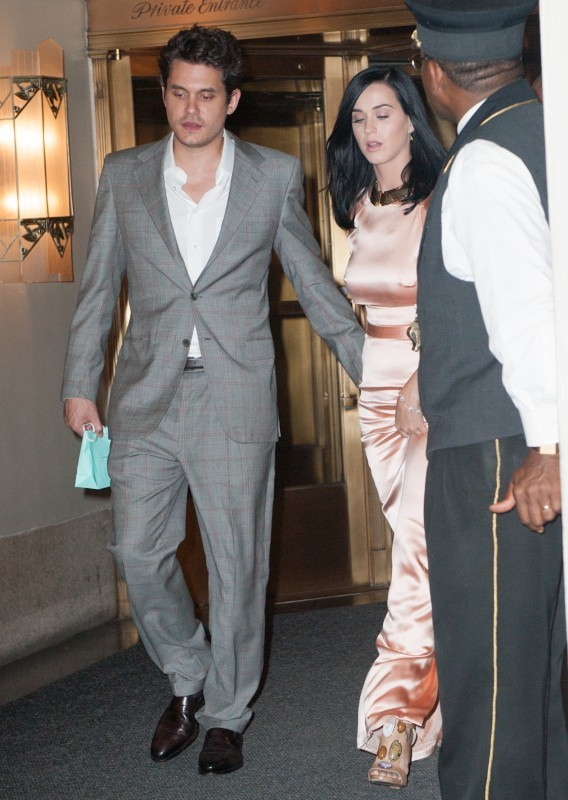 Katy Perry et John Mayer à New York, le 24 juin 2013.