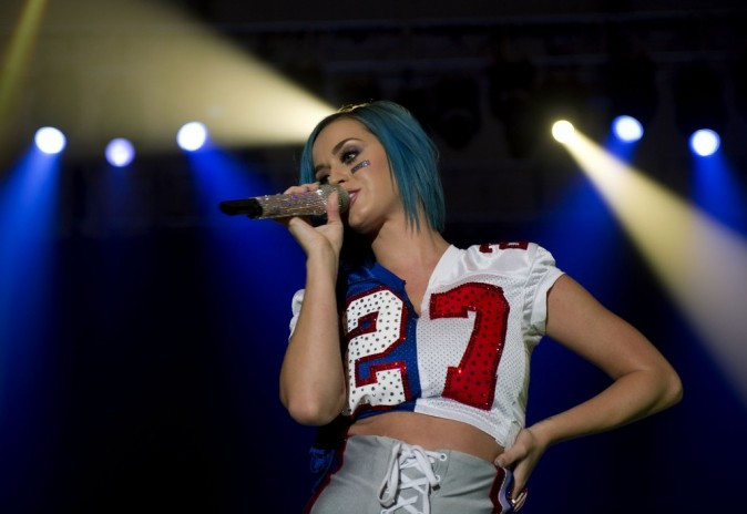 Katy Perry lors du Direct TV Super Saturday Night concert, le 4 février 2012.