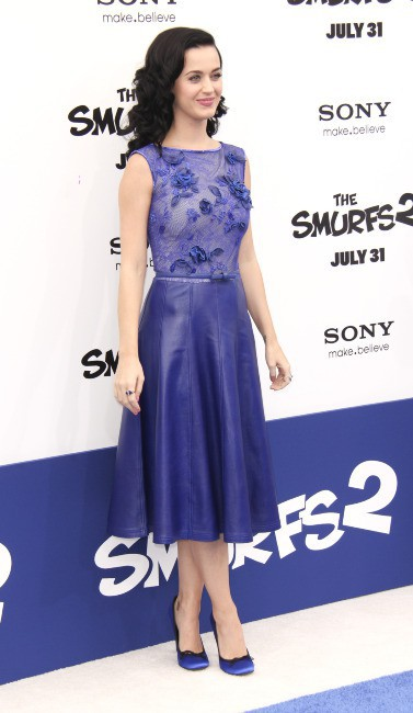 Katy Perry à la première des Schtroumpfs 2 à Westwood, le 28 juillet 2013.