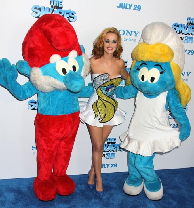 ...quand elle est entourée de petits hommes bleus !