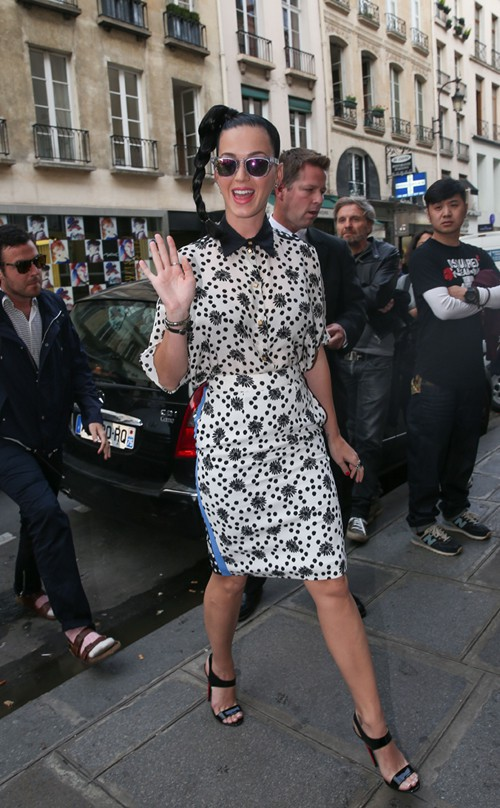 Katy Perry à Paris le 2 octobre 2013