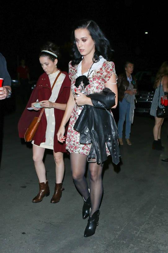 Katy Perry au concert de John Mayer à Los Angeles le 6 octobre 2013