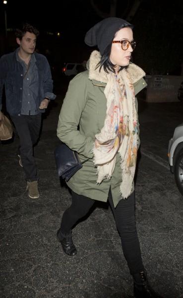 Katy Perry et John Mayer à Beverly Hills, le 27 décembre 2012.