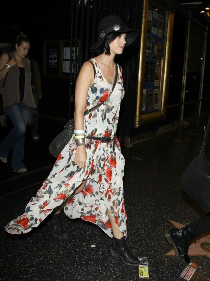 Katy Perry à la sortie du concert de The XX à Hollywood, le 23 juillet 2012.