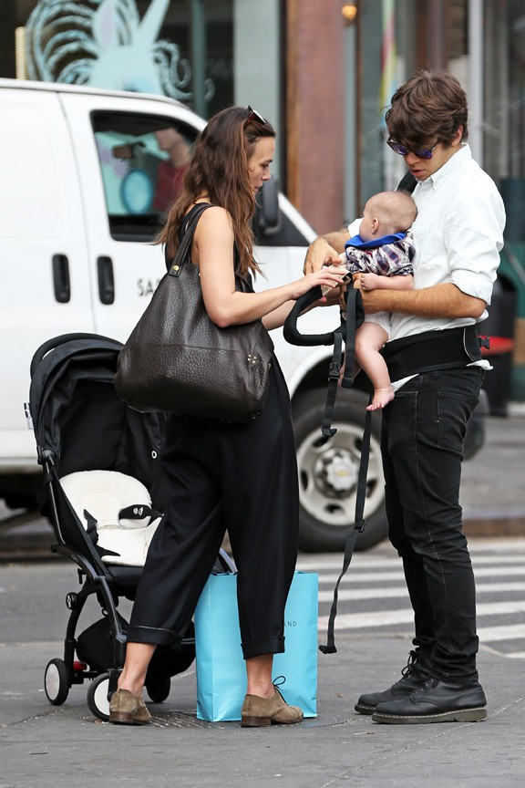 Keira Knightley et James Righton à New-York le 28 septembre 2015